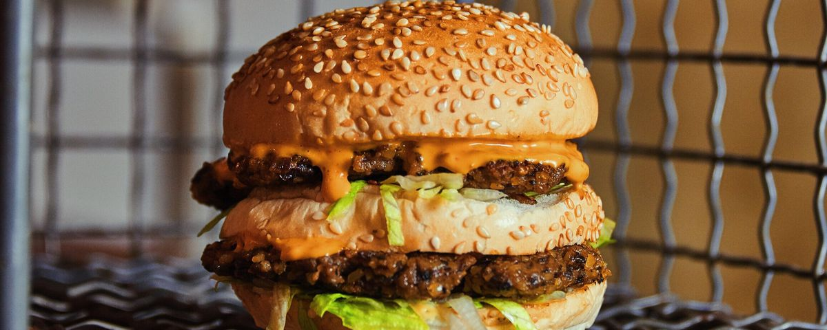A vegan cheeseburger at Simplicity Burger, one of London's best new restaurants