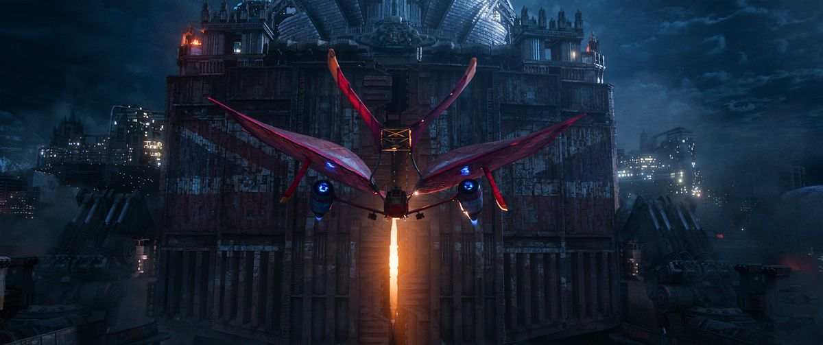Airship of outlaw Anna Fang (Jihae) in Mortal Engines