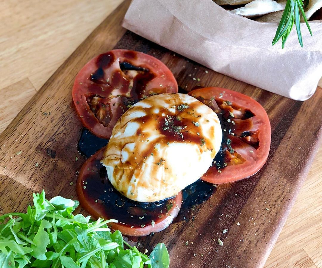 Burrata & Italian Balsamic Glaze meal