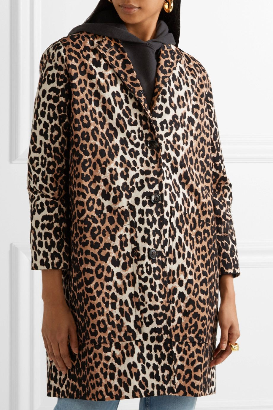 A leopard coat