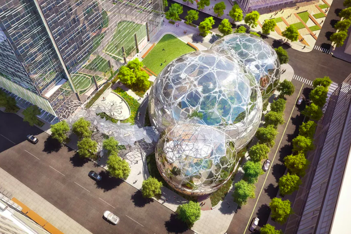 In Amazon's spheres, where workers chill in rainforest