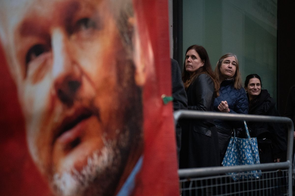 Protestors At Court Supporting Julian Assange
