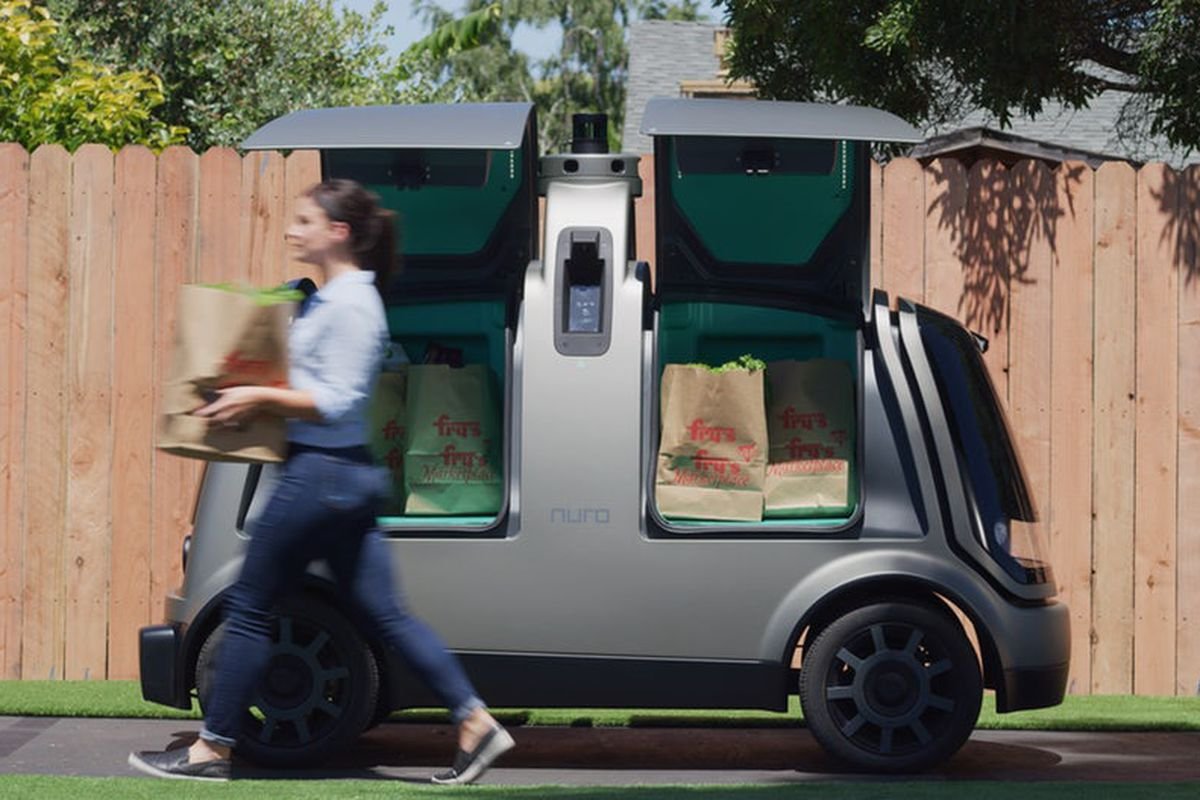 kroger and nuro roll out autonomous delivery vehicles in arizona curbed. Black Bedroom Furniture Sets. Home Design Ideas