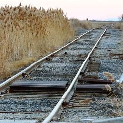 A set of railroad tracks is seen land that is being considered for development by Salt Lake City is seen on Monday, Dec. 5, 2016. Mayor Jackie Biskupski is kicking off an aggressive two-year plan to build an infrastructure backbone and develop an economic implementation plan for the city's northwest quadrant west of the Salt Lake City International Airport and the International Center. She announced the plan during a press conference Monday at the Salt Lake City Public Safety Building.