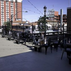 Another view of the patio bar at Commonwealth.