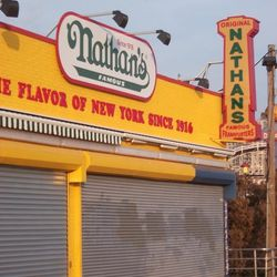 Nathan's on the boardwalk.