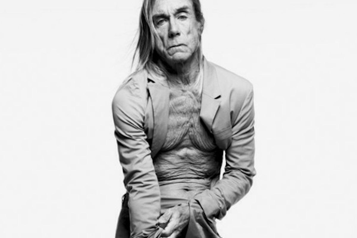 """Iggy Pop's kinda working this Prada suit, even though its as wrinkled as his, ahem, chest. Image via <a href=""""http://www.nytimes.com/interactive/t-magazine/mens-fashion/2011_mens_wellrockers.html?ref=mens-fashion-issue"""">NYT</a>."""