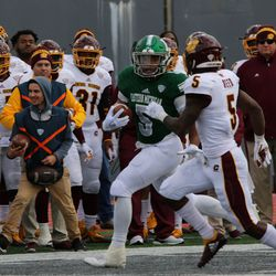 Shaq Vann running for enough yards to seal the deal at the end of the game.