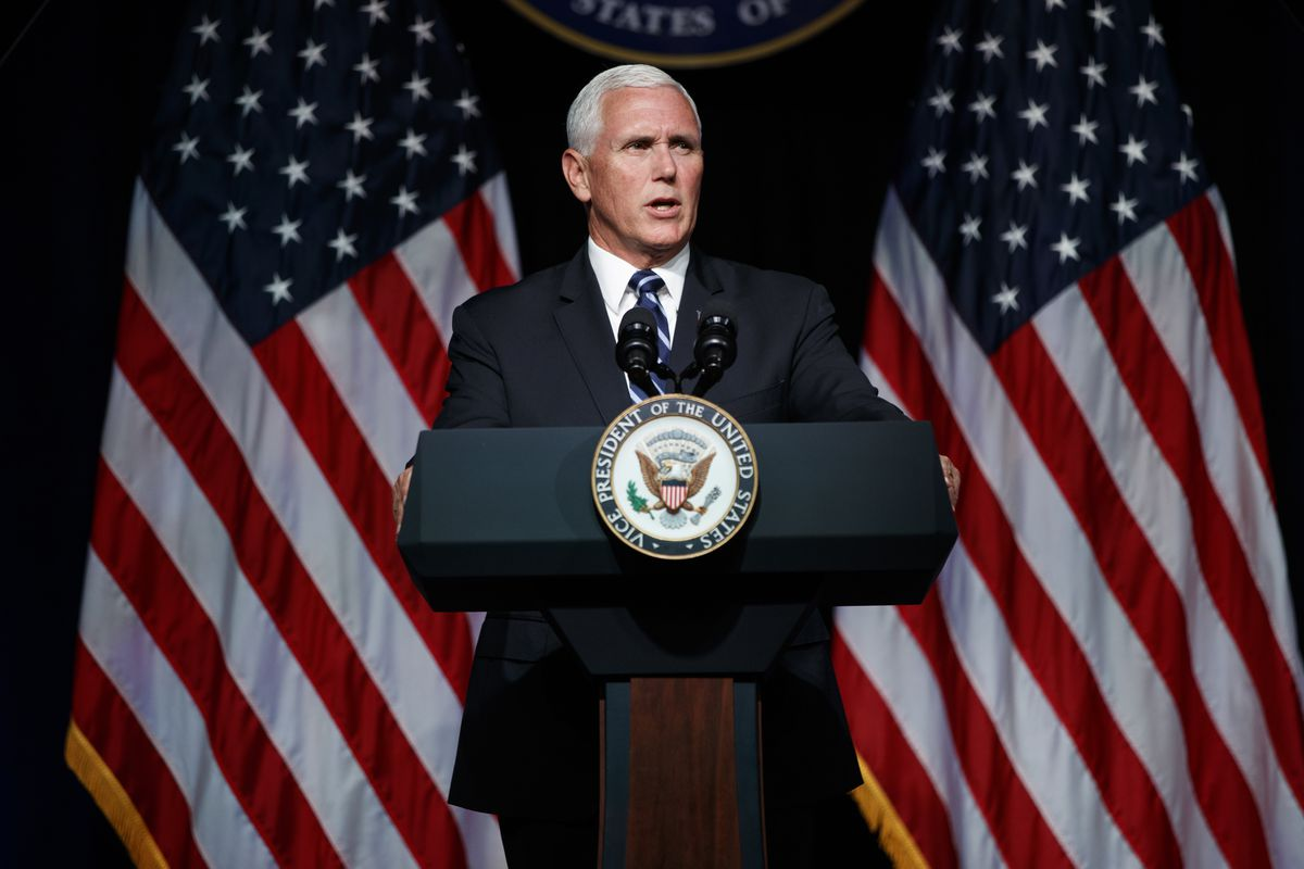 Vice President Mike Pence speaks during an event on the creation of a United States Space Force, Thursday, Aug. 9, 2018, at the Pentagon.