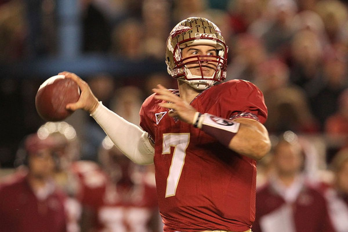 'Nole fans are hopeful that Christian Ponder will be able to play in his last game as a Florida State Seminole.(Photo by Mike Ehrmann/Getty Images)
