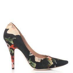 "<a href=""http://www.matchesfashion.com/product/158326"">Nova floral-print pumps by Acne</a>, $195.80 (were $492)"
