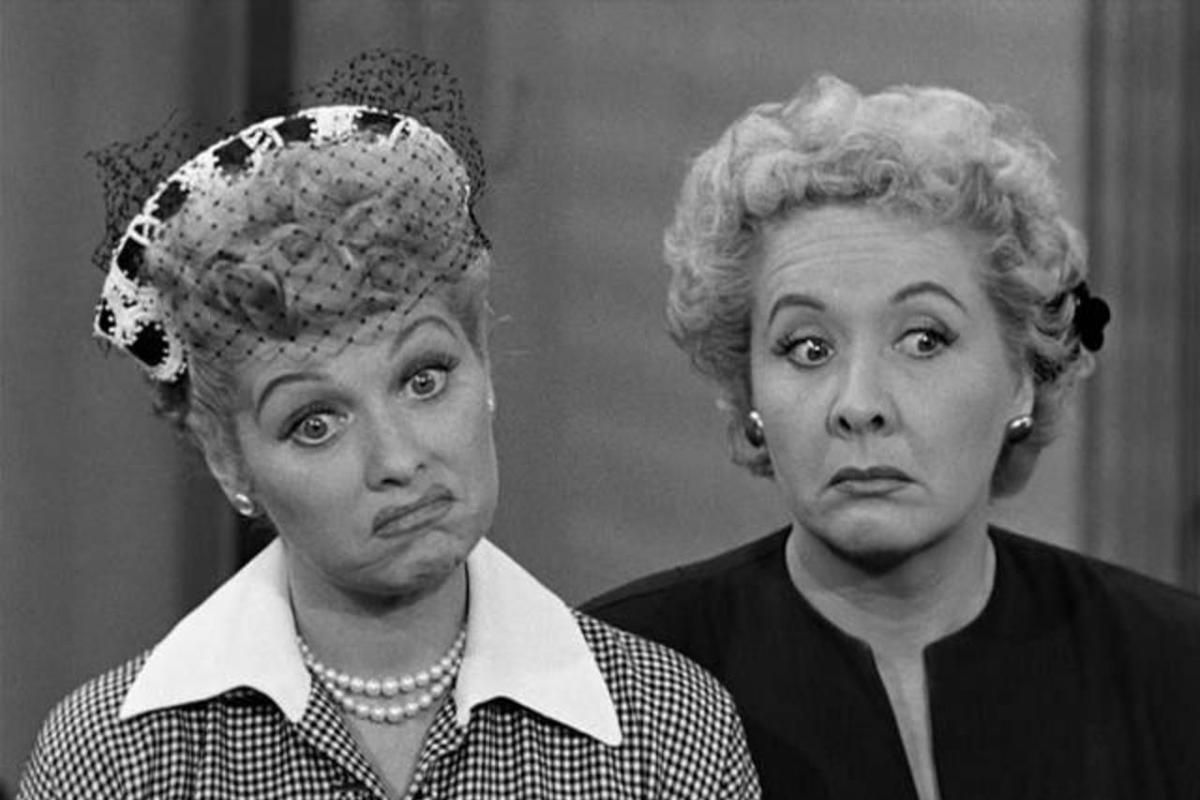"""Lucille Ball as Lucy Ricardo and Vivian Vance as Ethel Mertz star in the seminal sitcom """"I Love Lucy"""" (1951-60), which has been repackaged for a new complete-series DVD release this week."""