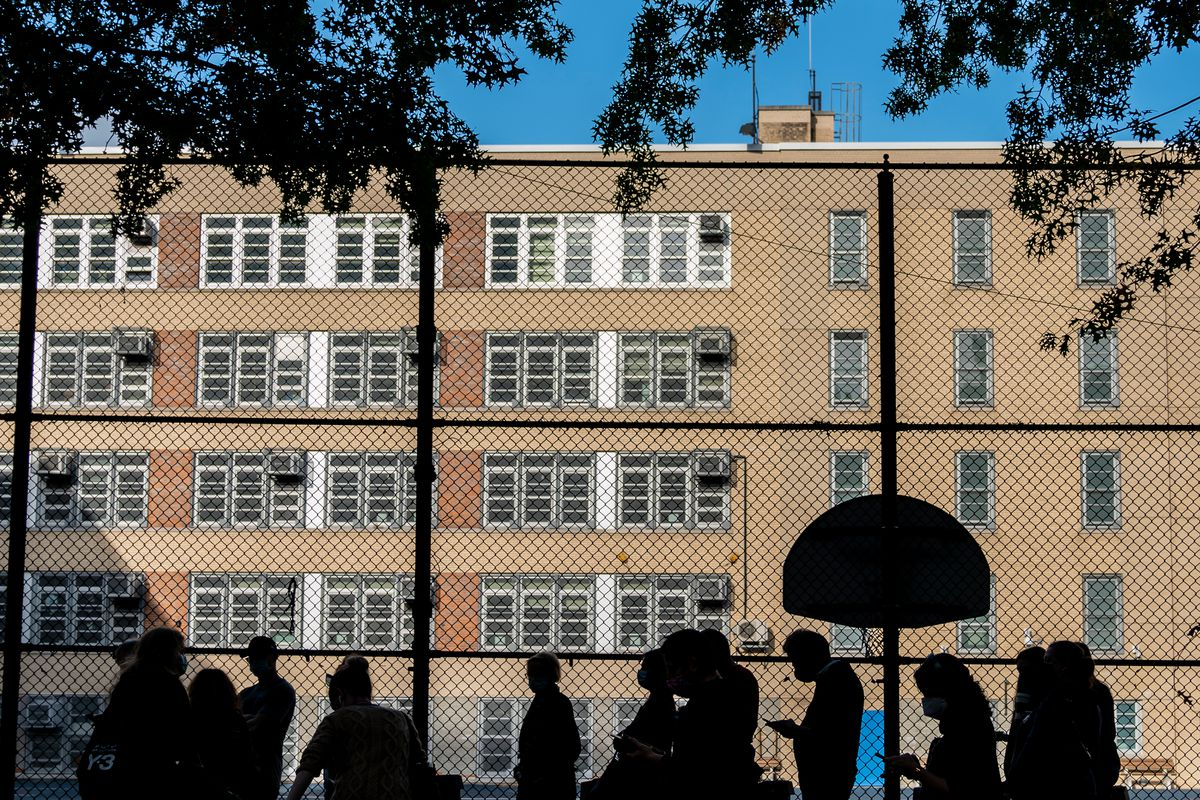 Robert Wagner Middle School in the Upper East Side, Oct. 24, 2020.