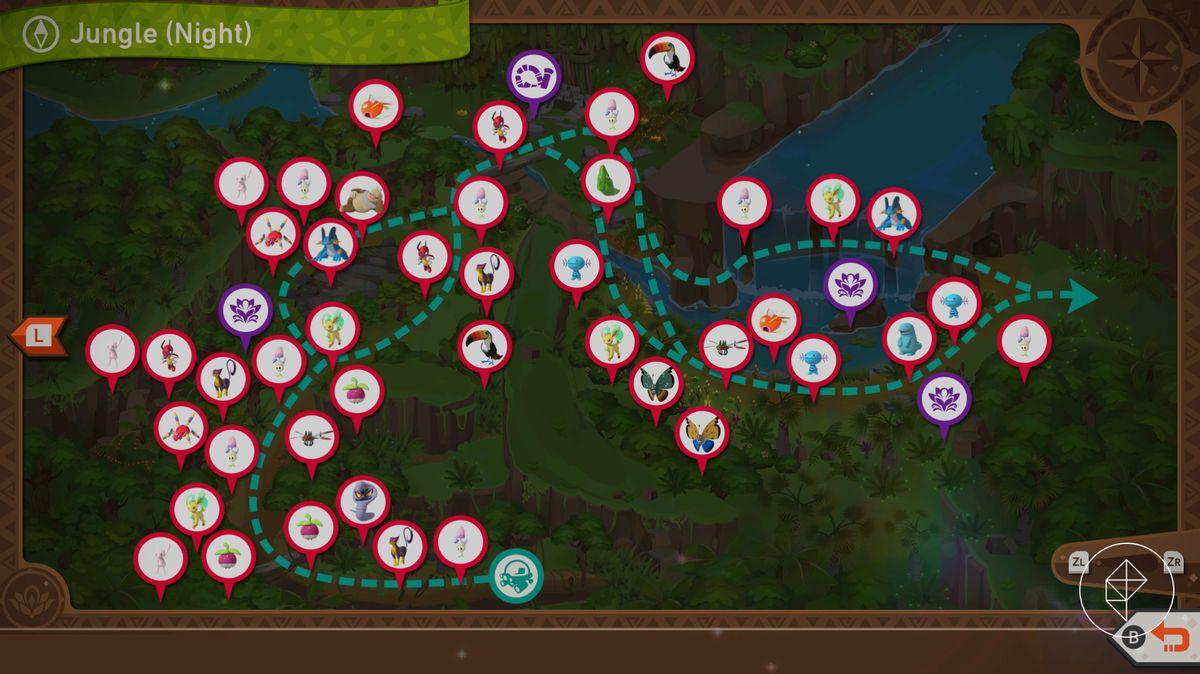 A map of Founja Jungle at night