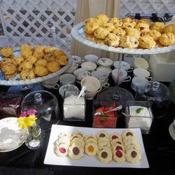 """Of course, a tea table! The classic English sipping and snacking experience was created by LA-based <a href=""""http://www.cnctea.com/"""">Charles & Company</a>."""