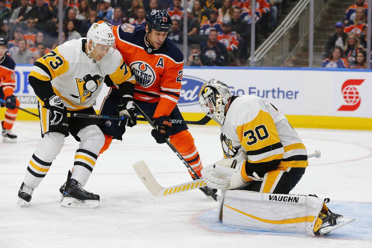 NHL: Pittsburgh Penguins at Edmonton Oilers