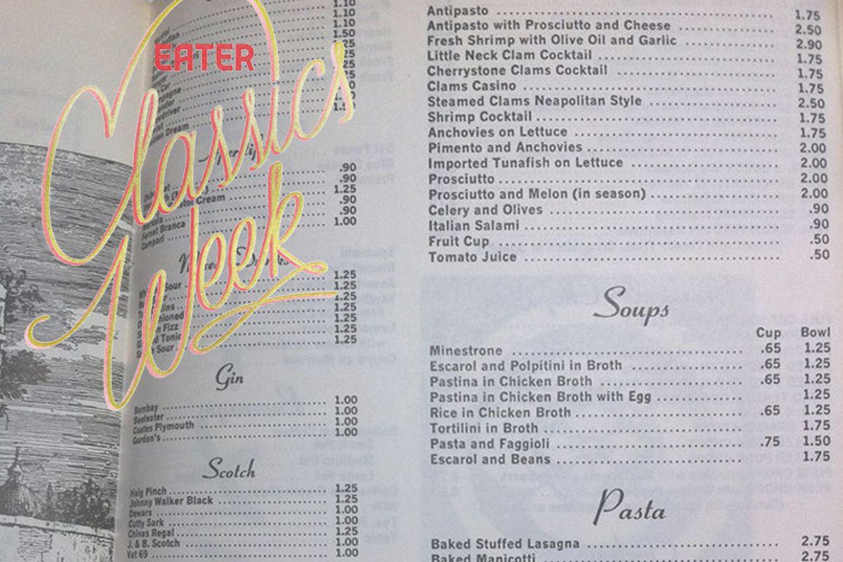 Stella's menu (1972)