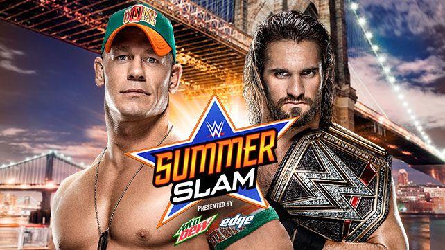 WWE SummerSlam Cena Rollins