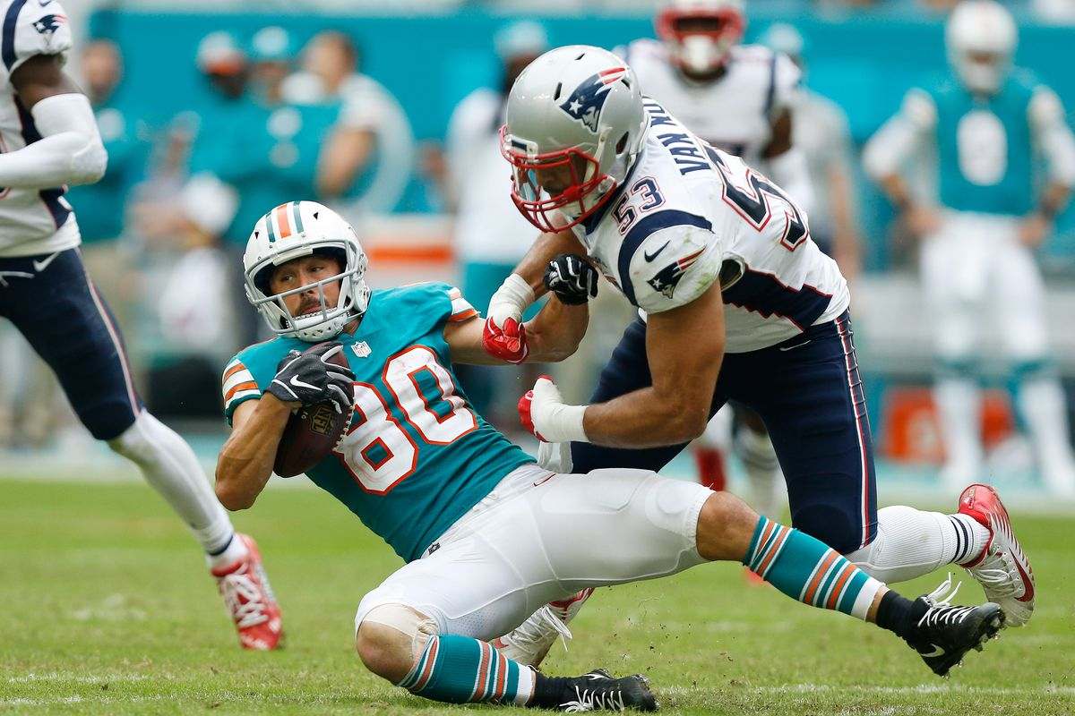 0b7a14baa Photo by Michael Reaves Getty Images. The Miami Dolphins released wide  receiver Danny Amendola ...