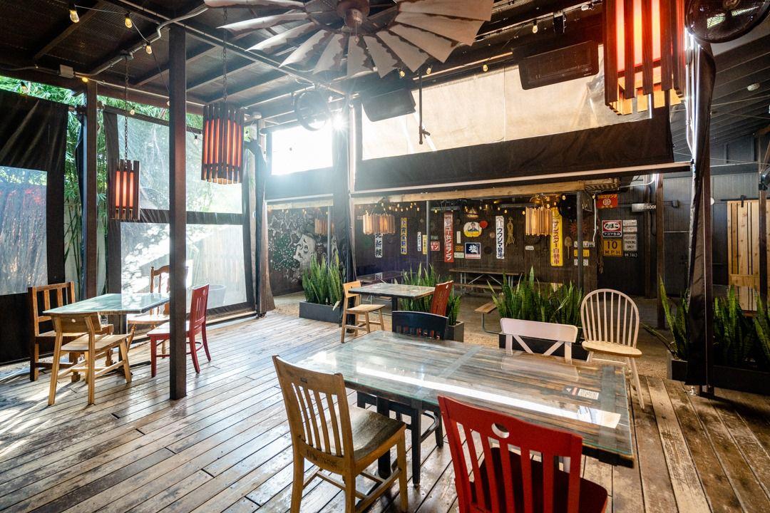 Kemuri's covered patio