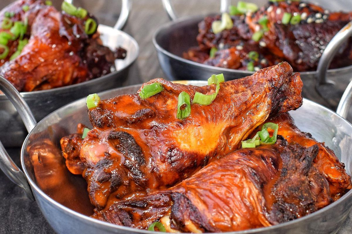 Beer-brined jumbo wings at Arts District Craft & Kitchen