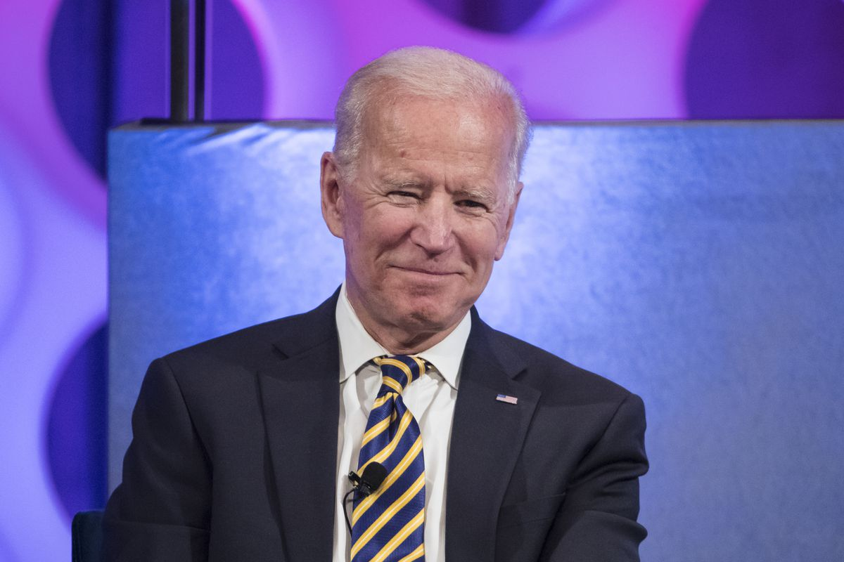 FILE - In this April 11, 2019 file photo, former Vice President Joe Biden takes part in a forum on the opioid epidemic, at the University of Pennsylvania in Philadelphia.  Biden has formally joined the crowded Democratic presidential contest, declaring th