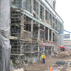 Another view of scaffolding on west side of ballpark