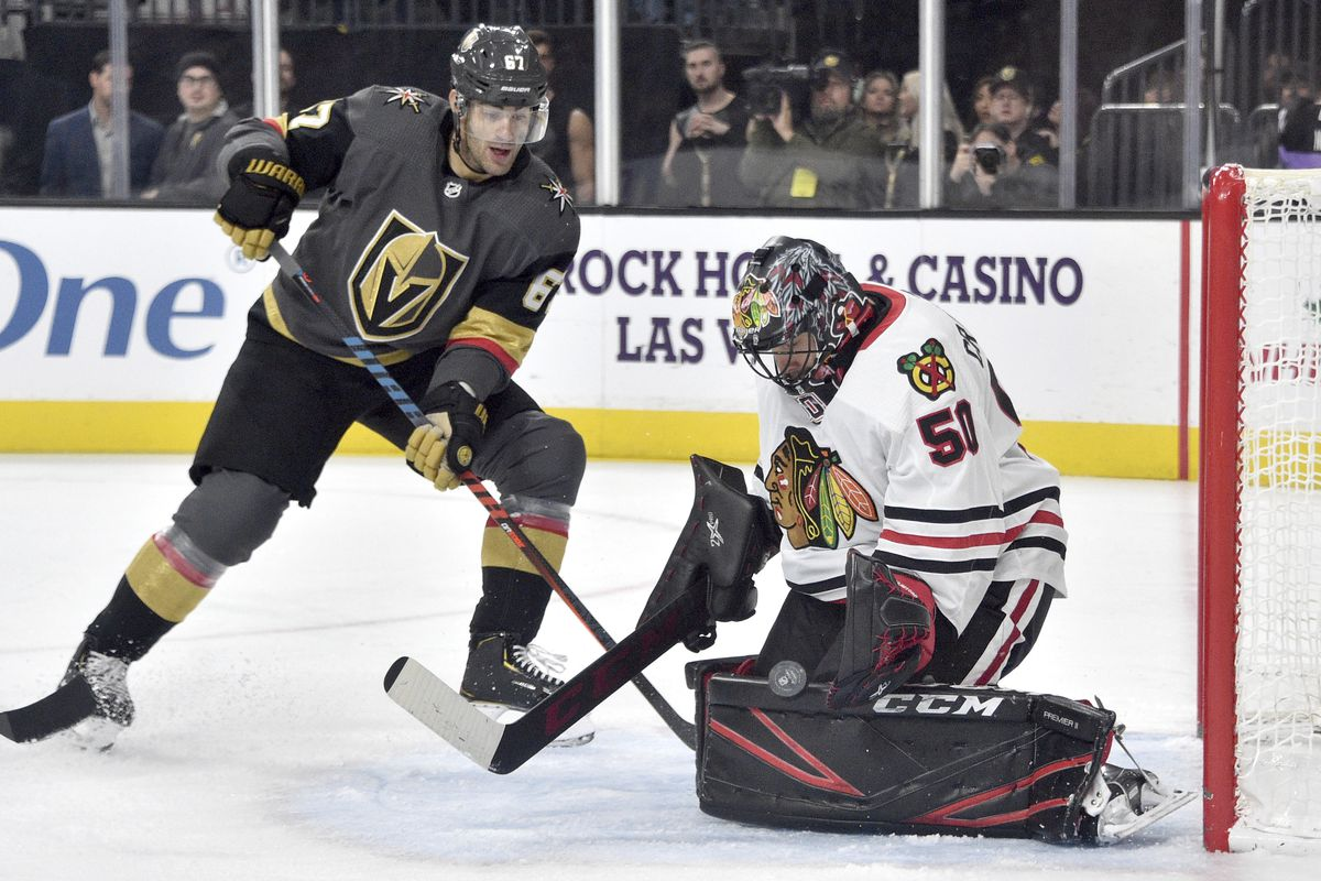 The Blackhawks-Golden Knights best-of-seven playoff series opens Tuesday night in the Edmonton bubble.