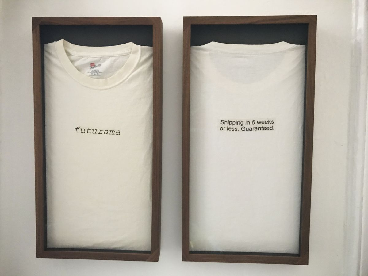The Prime launch team handed out these T-shirts to other divisions when they poached important colleagues. Prime's internal codename was Futurama.  Courtesy of Rob Lendvai