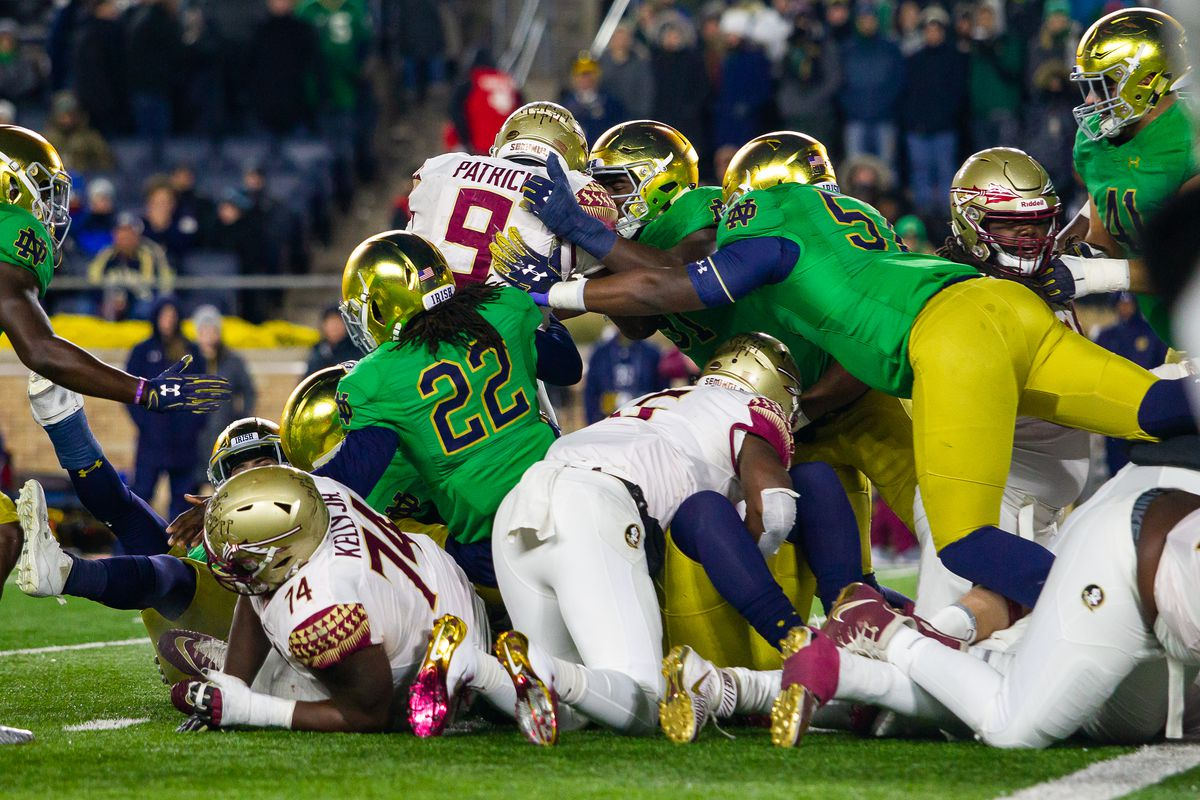 3 Things From Notre Dame S 42 13 Victory Over Florida State One Foot Down