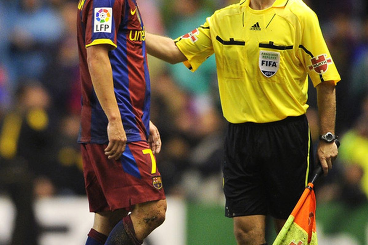 David Villa was one of only two red-carded Barcelona players during the La Liga season