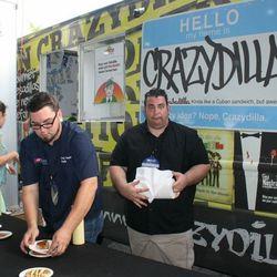 Guys at Crazydilla food truck at Trucks on Midtown Tracks
