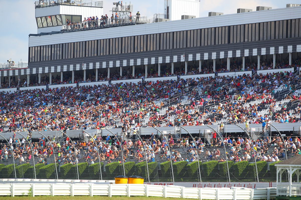 A general view of the crowd during the IndyCar Series - ABC Supply 500 on August 18, 2019 at Pocono Raceway in Long Pond, Pa.