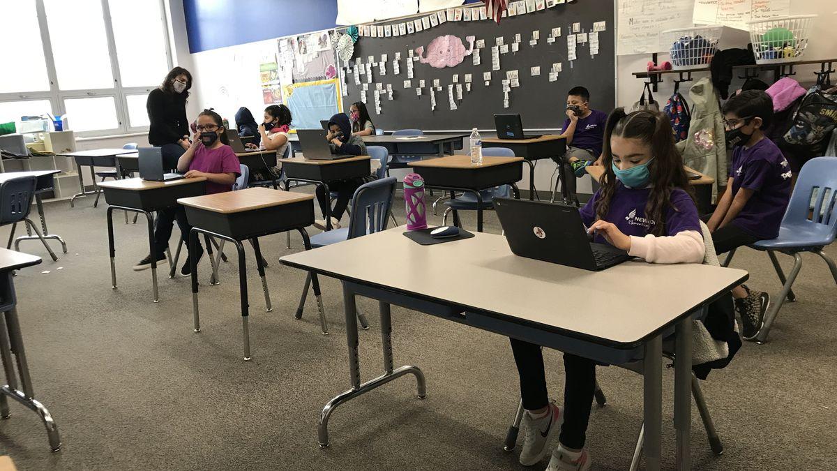 In-person instruction at Denver's Newlon Elementary School.