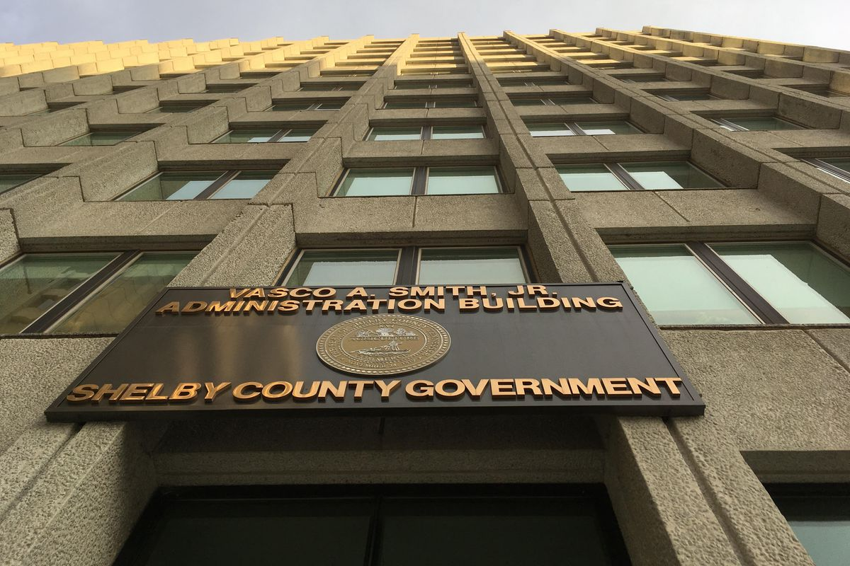 Shelby County government building in downtown Memphis.