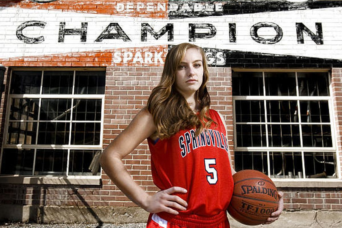 Lexi Eaton from Springville High School is Ms. Basketball 2010