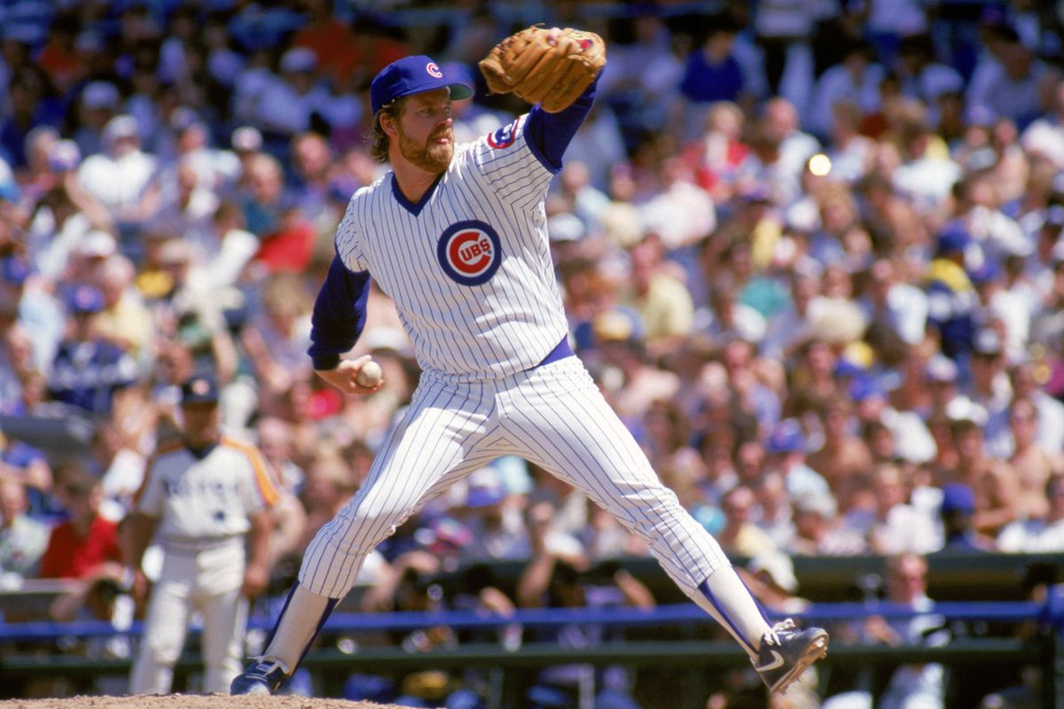 Rick Sutcliffe of the Chicago Cubs winds back to pitch during a game at Wrigley Field in Chicago, Illinois. ( Photo by: Jonathan Daniel/ Getty Images)