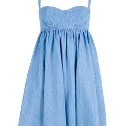 """<a href=""""http://www.farfetch.com/shopping/women/designer-see-by-chloe-denim-dress-item-10186845.aspx""""> See by Chloe denim dress</a>, $234 farfetch.com"""