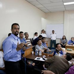 In this Aug. 20, 2012 photo, U.S. citizen Jason Sachary Puracal speaks during his appeals hearing in Granada, Nicaragua. As a three-judge appellate panel mulls the 35-year-old American's fate, the case has drawn the scrutiny of U.S. lawmakers and human-rights advocates, including the California Innocence Project, which works to absolve people who have been wrongfully convicted. In late 2010 masked policemen raided his seafront real estate office and took him to Nicaragua's maximum security prison. Prosecutors charged that Puracal was using his business as a front for money laundering in a region used to transport cocaine from Colombia to the United States. Because no drugs or cash were seized, Puracal's family and friends thought he wouldn't be held long, but nine months later, a judge convicted Puracal and sentenced him to 22 years in prison.