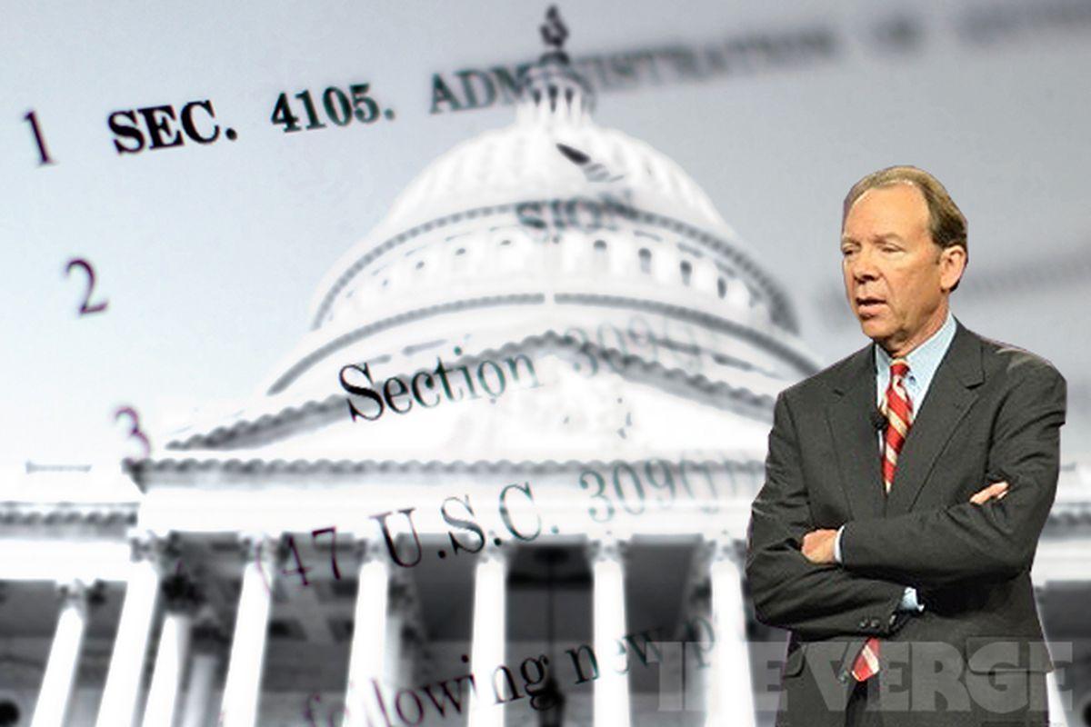 FCC spectrum bill Dan Hesse (Verge composite image)