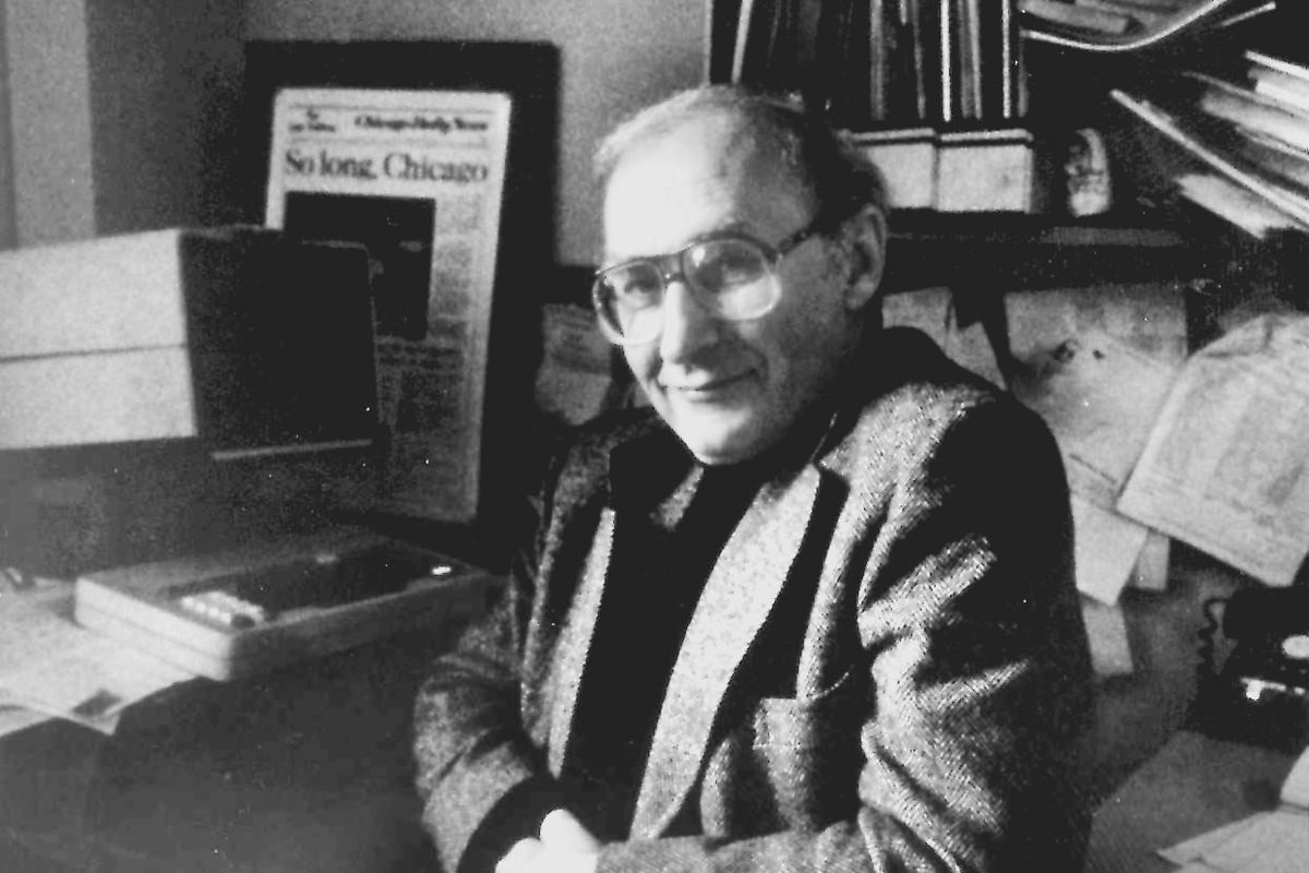 Chicago Sun-Times columnist Mike Royko in an undated photograph.