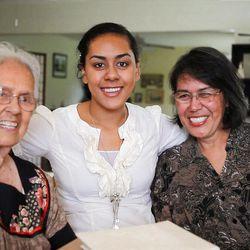 YW article June 2010 ? Sister Elaine Dalton, three generations photo, bee Monday, June14, 2010.