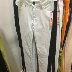 White pants with black stripes, $79 (were $198)