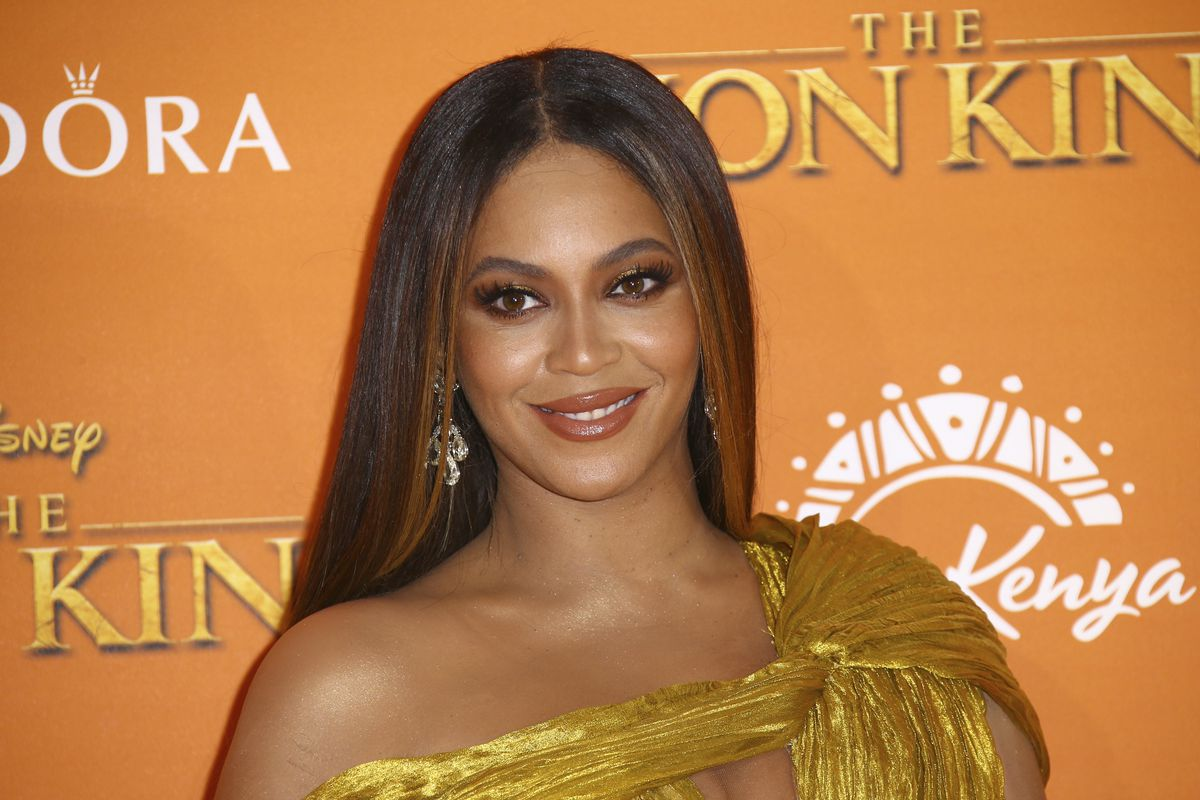 """Beyonce arrives at """"The Lion King"""" premiere in London in 2019."""