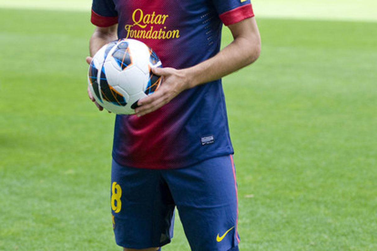 BARCELONA, SPAIN - JULY 05:  Barca's newest signing, Jordi Alba, is proof that teams do not have to spend massively in the transfer market to improve the squad.  (Photo by David Ramos/Getty Images)