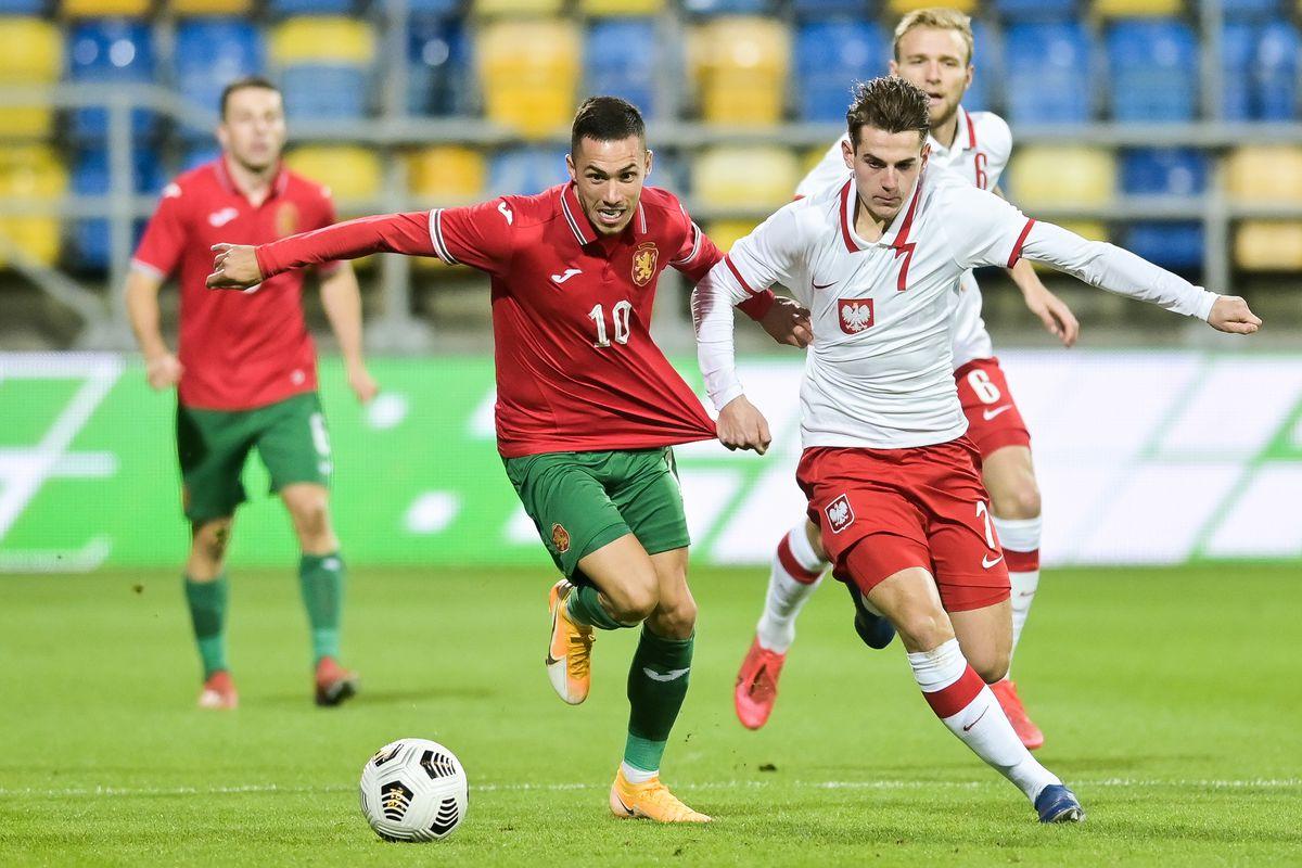 Stanislav Ivanov of Bulgaria (L) and Jakub Kaminski of...