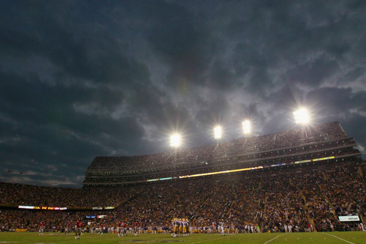 LSU will be spending a lot of time at home in 2012.