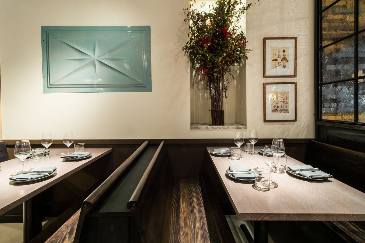 [The dining room at High Street on Hudson in the West Village]
