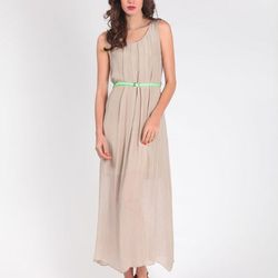 Chiffon Column Dress, $204