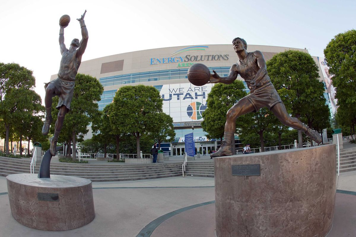 Before they were statues, they kicked butt on the court.